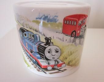 Wedgwood Thomas the Tank Engine And Friends  Money Box, Coin Box, Piggy Bank. Thomas The Train Coin Bank