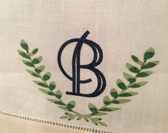 Initial Hand Towel - Great for weddings, housewarming, kitchen, powder room