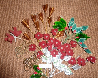 Vintage Christmas Millinery Collection Lot Japan Holly