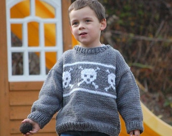 Child's Skull and Cross Bones sweater