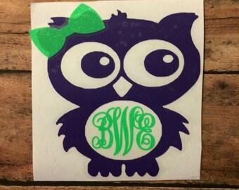 Owl Window Decal Etsy - Owl custom vinyl decals for car