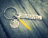 I love you to the death star and back - with light saber  - great gift - christmas - geekery fan