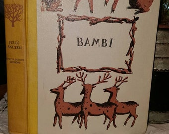 1929 BAMBI, by Feliz Salten,  Hardcover, Children's Book