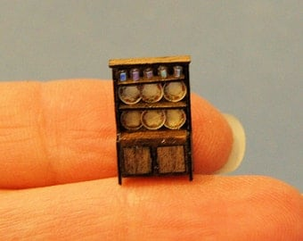1/144th inch scale miniature-Hutch with Dishes