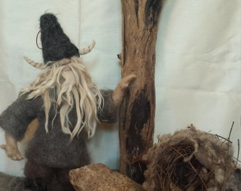 Viking of the Woods Needle felted by FeltLikeItStudio