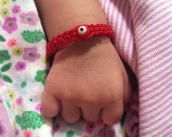 Baby red evil eye bracelet. Red string bracelet. Baby bracelet. Evil eye bracelet. Baby Bracelet