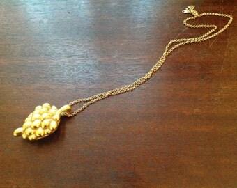 Vintage Trifari Big Bunch of Grapes Necklace