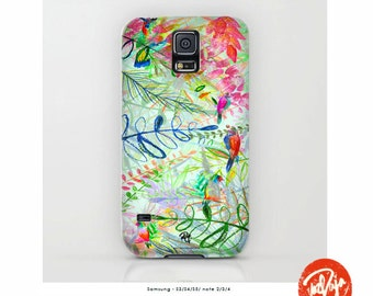 Birds of Paradise Smartphone Case -  iPhone - Android - Flowers of Paradise - Tropical - Plants - Handmade in UK