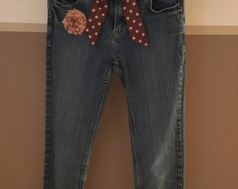 Girls embellished jeans