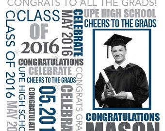 Graduation Photo Backdrop, Vinyl Backdrop, New grad, College Graduation Ceremony, Seniors, High School Party