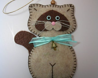Siamese Kitty Cat Ornament