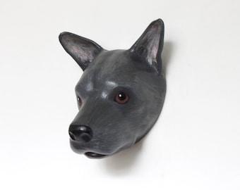 paper mache personalized dog portrait / sculpture