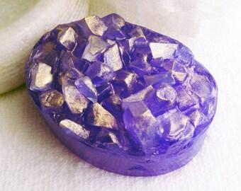 Druzy Soap, Gemstone Soap, Rock Soap, Glycerin Soap, Melt and Pour, Novelty Soap, Gift Soap, Guest Soap, Palm Free Soap, Artisan Soap, Vegan