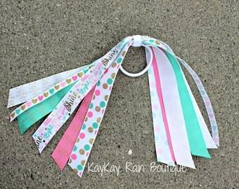 This Little Light Of Mine Ponytail Streamer - Ponytail Ribbons - Ponytail Holder Ribbons - Shine Ponytail Ribbons - Cheer Ribbons - Shine