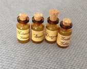 Blythe Doll Halloween Spell Sorrow Despair Potion Bottles Props 1:6 scale Miniature dollhouse