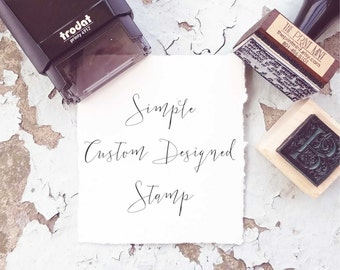 Custom Designed Stamp,  Custom Logo Stamp,  Personalized Business Card Stamp, Personalized  Stamp, Business Stamp, Custom Rubber Stamp