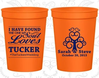 Orange Stadium Cups, Orange Cups, Orange Plastic Cups, Orange Party Cups, Orange Wedding Cups (498)