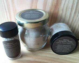 Natural Mineral Detox Facial Clay Face Mask Organic Skincare Spa Product