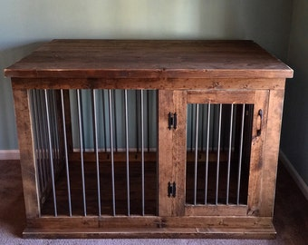 Custom Dog Kennel Crate | Coffee or Entry Table | Dual Purpose Furniture