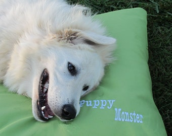 FREE SHIPPING SALE Puppy Monster Organic Dog Bed Cover - Washable - Recycle Your Old Pillows - Made to Order in 2 weeks