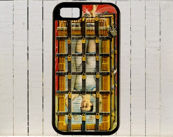 The Great Escape Artist Houdini Sealed In A Glass Case Filled With Water  iPhone Case 4, 4s, 5, 5C, 6, 6+ and Samsung Galaxys