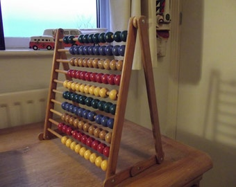 vintage abacus dating from pre 1970s probably from a school