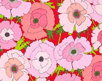 Alexander Henry - Mexican Poppy - #8284D - Red/Pink