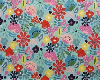 Alexander Henry - Pretty Poppy - Item #8330B - Linen Turquiose