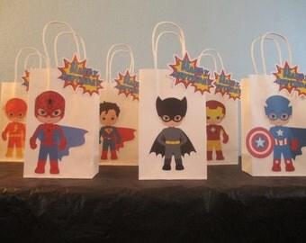 Superhero Favor Bag(10)Superhero Goodie Bag,Superhero Gift Bag,Superhero Party Bag,Super Hero decoration,Superhero party bag
