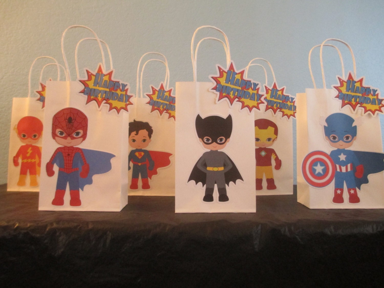 Superhero Favor Bag10Superhero Goodie BagSuperhero Gift