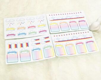 Rainbow Decor Set - 4 Sheets