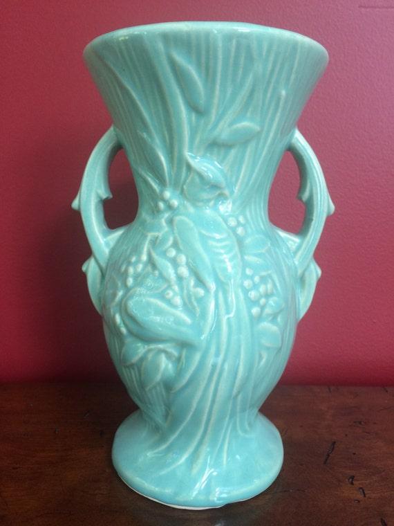 McCoy Peacock Vase