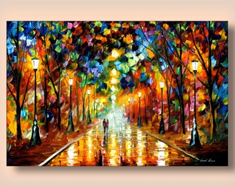 """Wall Art Print Landscape Artwork On Canvas By Leonid Afremov - Farewell To Anger. Size: 36"""" X 24"""" Inches (90 cm x 60 cm)"""