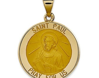 Polished And Satin St. Paul Medal Pendant (XR1377)