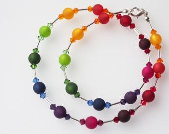 rainbow necklace rainbow polaris necklace swarovksi® Kristallen pride