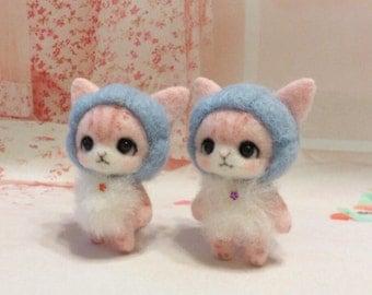 Needle felt - Needle felted cat - Needle felting cat - Handmade cat - cat miniature - cat - Kitten - Kitten - Tabby cat (Made To Order)