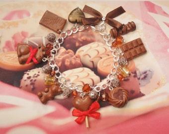 bracelet  chocolate polymer clay
