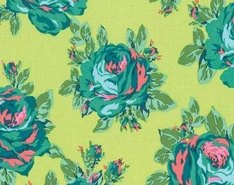 Half Yard - 1/2 Yard - Rose Lore in Lemon - ETERNAL SUNSHINE Collection by Amy Butler