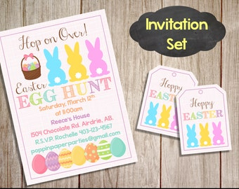 Printable Custom Easter Invitation, Easter Party Package, Easter Brunch, Egg Hunt