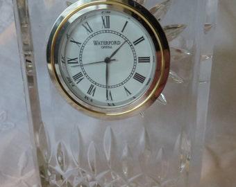 Clock WATERFORD  //  Desk Table or Mantle Clock  //  Waterford Crystal  //  Vintage Crystal Clock  //  Made in IRELAND