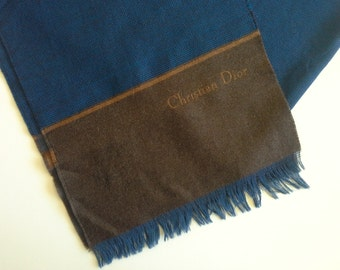 Vintage Christian Dior Wool Scarf, West Germany.