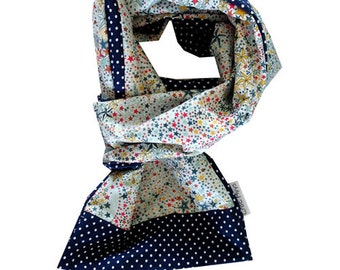 Liberty scarf adelajda multicolor and blue