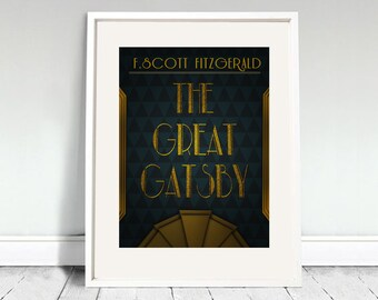 The Great Gatsby Poster - F. Scott Fitzgerald