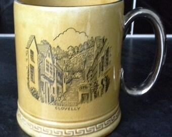 Clovelly Devon big mug by Britannia Designs