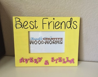 4x6 personalized best friends picture frame best friends frame bff frame my best friend frame gift for best friend custom frames
