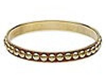 Brass Studded Bangle Bracelet, Bangle Bracelet,