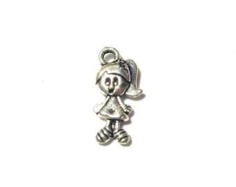 1 Charm Doll 1.2 x 1.2mm for jewelry / trinket 1 bike 1.5 x 1.3mm for jewelry