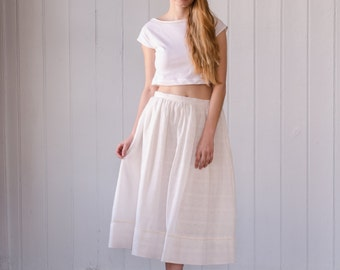 unbleached organic cotton skirt