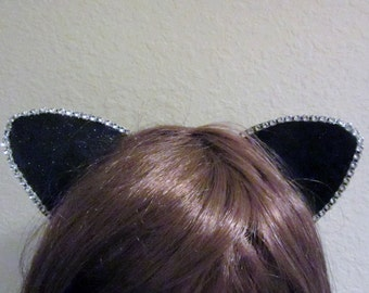 Rhinestone Cat Ears, Sparkle Cat Ears, Cat Ears Headband, Multiple Discounts, Cosplay