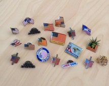 USA American Pins Vintage Collection Flag Patriotic Lot of 20